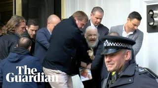 Julian Assange arrested at Ecuadorian embassy in London