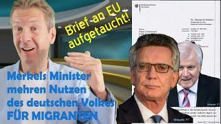Merkel weiß intern um erhöhte Gefahren. Trotzdem Nutzen des deutschen Volkes FÜR MIGRANTEN GEMEHRT