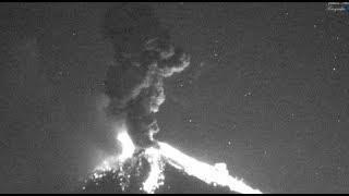 Mexico's Popocatepetl volcano explodes