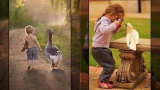 Kleinkinder und Tiere - wunderschöne Momente