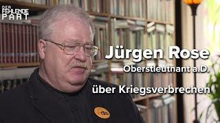 """""""Der Westen und die NATO haben so viel Dreck am Stecken"""" Oberstleutnant a.D. Jürgen Rose"""