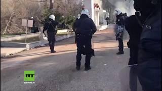 Griechische Polizisten offenbar von türkischer Seite mit Tränengas beschossen
