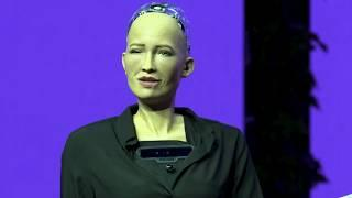 Die neue Gernation Mensch - Sophia the Robot at Brain Bar
