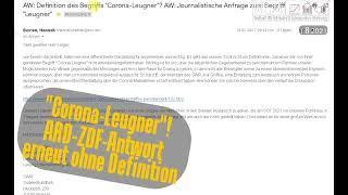"""""""Corona-Leugner"""". ARD-ZDF kann keine Definition liefern. Auch nicht auf meine mehrfache Nachfrage"""