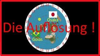 Flache Erde Sonne gleichzeitig in  Brazil und Japan - Die Auflösung