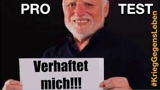 Protest: Zustimmung zur Verhaftung! #KriegGegensLeben