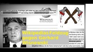 Wikipedias Feldzug gegen Gerhard Wisnewski