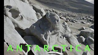 """What LOOKS like a """"STATUE"""" partially buried near 'Ancient Ruins' in ANTARCTICA!"""