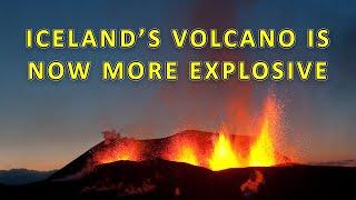 Lava Now Shooting 50m (165ft) into the Air! Another Webcam may be Destroyed | Geldingadalur, Iceland