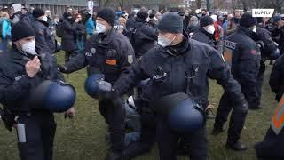 Anti-lockdown protests take place across Germany, marking 1 year of COVID restrictions