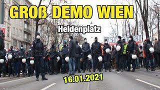 GROß DEMO Eskalation (16.01.2021) Wien Heldenplatz - Thug Life Austria