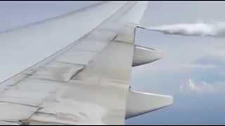 Chemtrails oder nur Wasserdampf - Flugzeug in Aktion