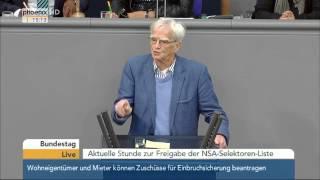 Bundestag:  Aktuelle Stunde zur Freigabe der NSA-Selektoren-Liste am 21.05.2015