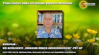 """KURZFILM – DIE GEFÄLSCHTE """"INVASION DURCH AUSSERIRDISCHE""""-PSY-OP"""