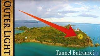 Hidden tunnel directly under temple on Epstein Island