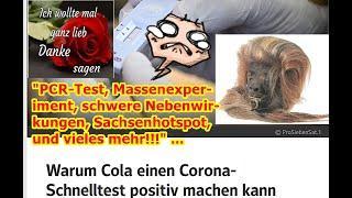 """""""PCR-Test, Massenexperiment, schwere Nebenwirkungen, Sachsenhotspots und vieles mehr!!!"""" ..."""