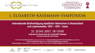 Verbrechen an Menschen -  Elisabeth-Käsemann-Symposium