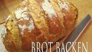 Brot backen knusprige Kruste, wie vom Bäcker