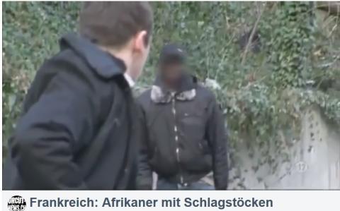 Frankreich: Afrikaner mit Schlagstöcken drohen Polizisten auf offener Strasse! Video in 14 Ländern g