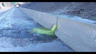Extremely Hazardous Green Slime Found Oozing Onto Detroit Highway