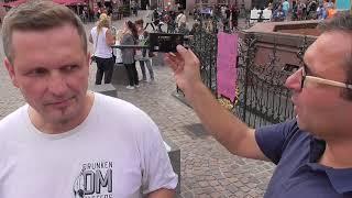 Demo gegen Strahlenfolter am 29.8.in Frankfurt: Strahlenmessung an Zielperson