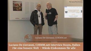 Luciano De Giovanni, COEMM.net Für eine bessere Welt  - Würde-Einkommen für alle