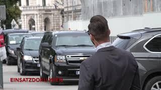 US-Außenminister MIKE POMPEO in Wien! [VIP Eskort/Motorcade with United States Secret Service]