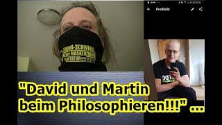 """""""David und ich beim nächtlichen Philosphieren!!!"""" ..."""