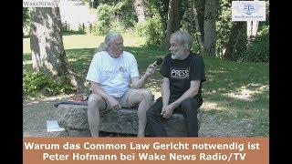 Warum das Common Law Gericht notwendig ist - Peter Hofmann bei Wake News Radio/TV