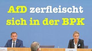 Die AfD-Parteispitze nach der Bundestagswahl - Komplette BPK - 27. September 2021