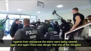 Flüchtlinge besetzen Regierungsgebäude in Deutschland