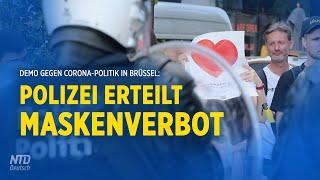 """Corona-Protest am EU-Sitz Brüssel – Organisator: """"Polizei erteilt Maskenverbot"""""""