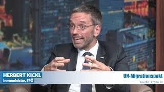 "Innenminister Herbert Kickl bei ""krone.at"" über den UN-Migrationspakt!"