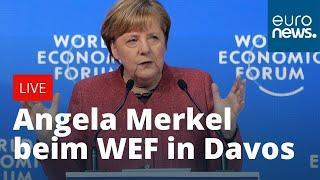 Angela Merkel beim WEF in Davos - THE GREAT RESET