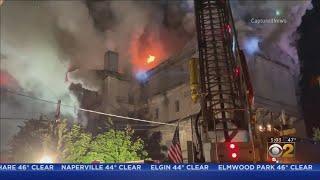 Historic Masonic Temple Catches Fire Overnight In Aurora - Freimaurer-Tempel abgebrannt