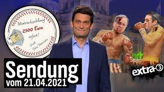 Der Plan, die CDU-CSU abzusägen beginnt - Extra 3 vom 21.04.2021 im NDR