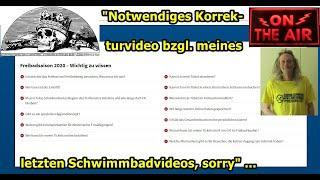 """""""Mir geschehen auch Fehler, sorry — deswegen bitte dieses Korrekturvideo bzgl. letztes Vid"""" ..."""