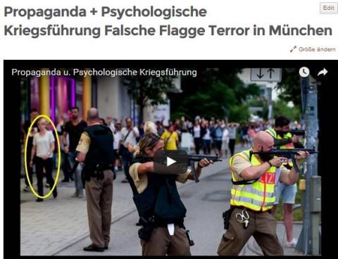 Propaganda + Psychologische Kriegsführung Falsche Flagge Terror in München