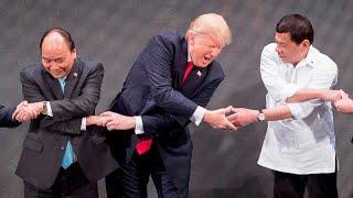 Donald Trump geniesst seine neue Rolle als Präsident 2017