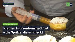 Passau: Krapfen Impfzentrum geöffnet - die Spritze, die schmeckt
