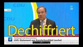 """Laschet dechiffriert –seine Ohrfeige gegen Merkel, und wie sie die Medien """"übersehen"""""""