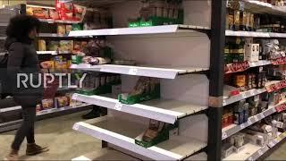 Germany: Coronavirus fears prompt shoppers to empty supermarket shelves in Berlin