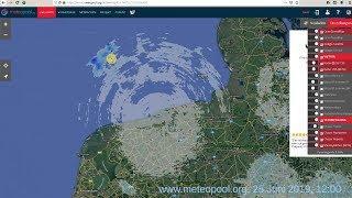 Wetter eben von 12:00 Uhr. Komischer Kreis an der Nordsee. 25. Juni 2019