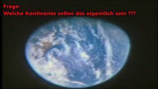 Apollo 11 - Erdkugel nur ein Fake - Erde durch Fenster gefilmt aus dem Orbit heraus