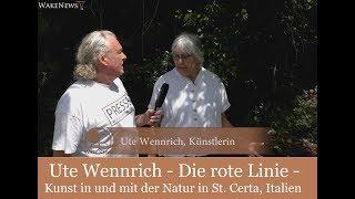 Ute Wennrich - Die rote Linie - Kunst in und mit der Natur in St. Certa, Italien