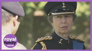 Princess Anne visits Gurkha regiment