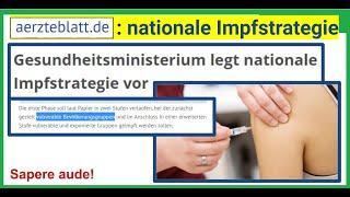 """""""Gesundheits-Ministerium legt nationale Impfstrategie vor"""", so """"aerzteblatt.de"""""""