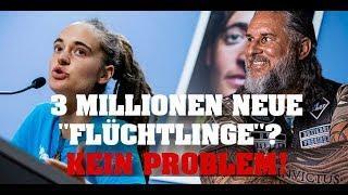 """Carola Rakete: 3 MILLIONEN neue """"Flüchtlinge""""? KEIN PROBLEM!"""