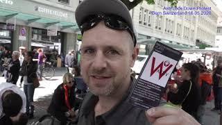 Anti Lockdown Protest Bundesplatz Bern Schweiz 2020 05 16