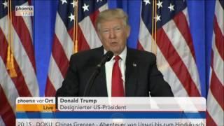 Zu Erinnerung !  Donald Trump erste Pressekonferenz 11.01.2017 Deutsch komplett